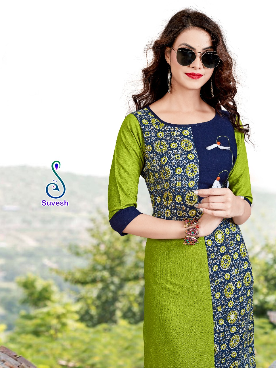 Natasha-11 New Arrival Heavy Rayon & Rayon Print Kurtis Collection
