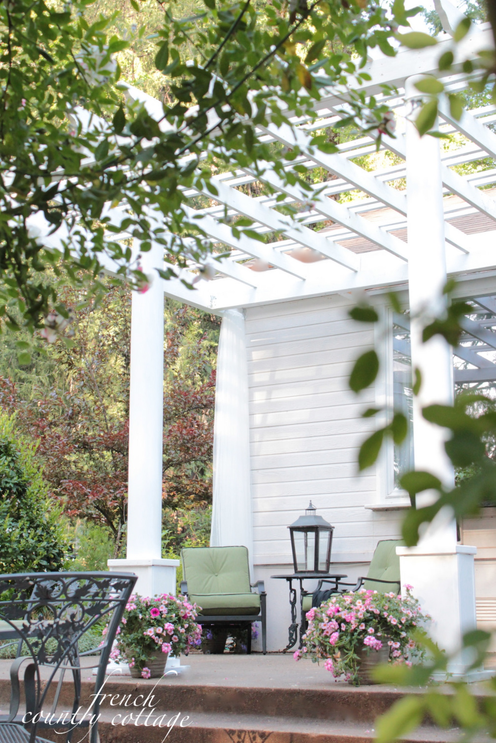 or should I say lack of entry. - Adding Character~ Front Porch Pergola - FRENCH COUNTRY COTTAGE