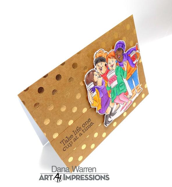 Dana Warren - Kraft Paper Stamps - Art Impressions, Spectrum Noir ColourBlend Pencils