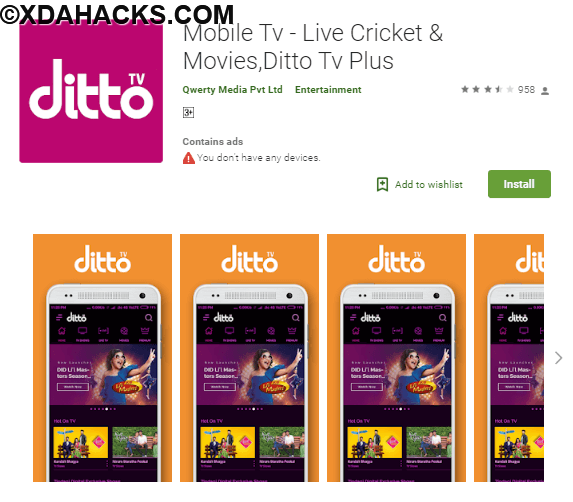 Ditto TV Live TV Shows, News & Movies v4.0.20180205.1 [Subscribed].apk