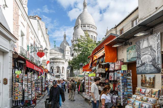 Bairro Montmartre em Paris