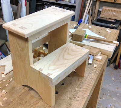Close Grain Shaker Step Stool Class Started