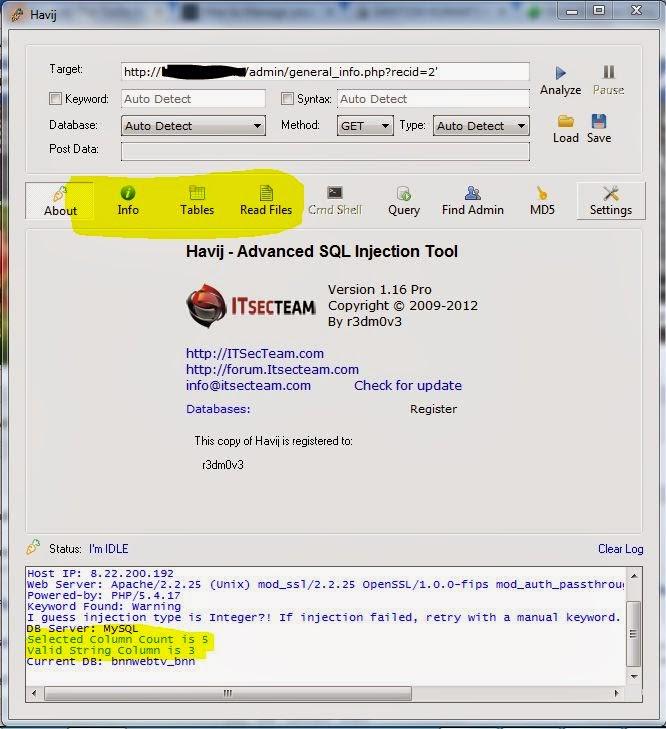 Hack Websites Using Havij [SQL Injection Tutorial] - TH GROUP