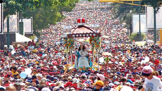 Imagen con la procesión de la Divina Pastora en Guatemala