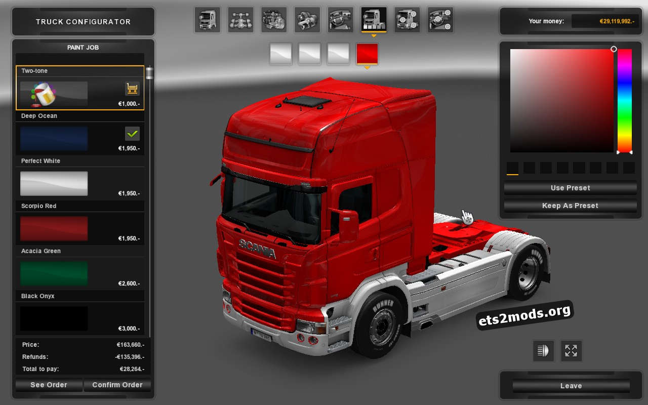 Scania RJL Two-tone paint
