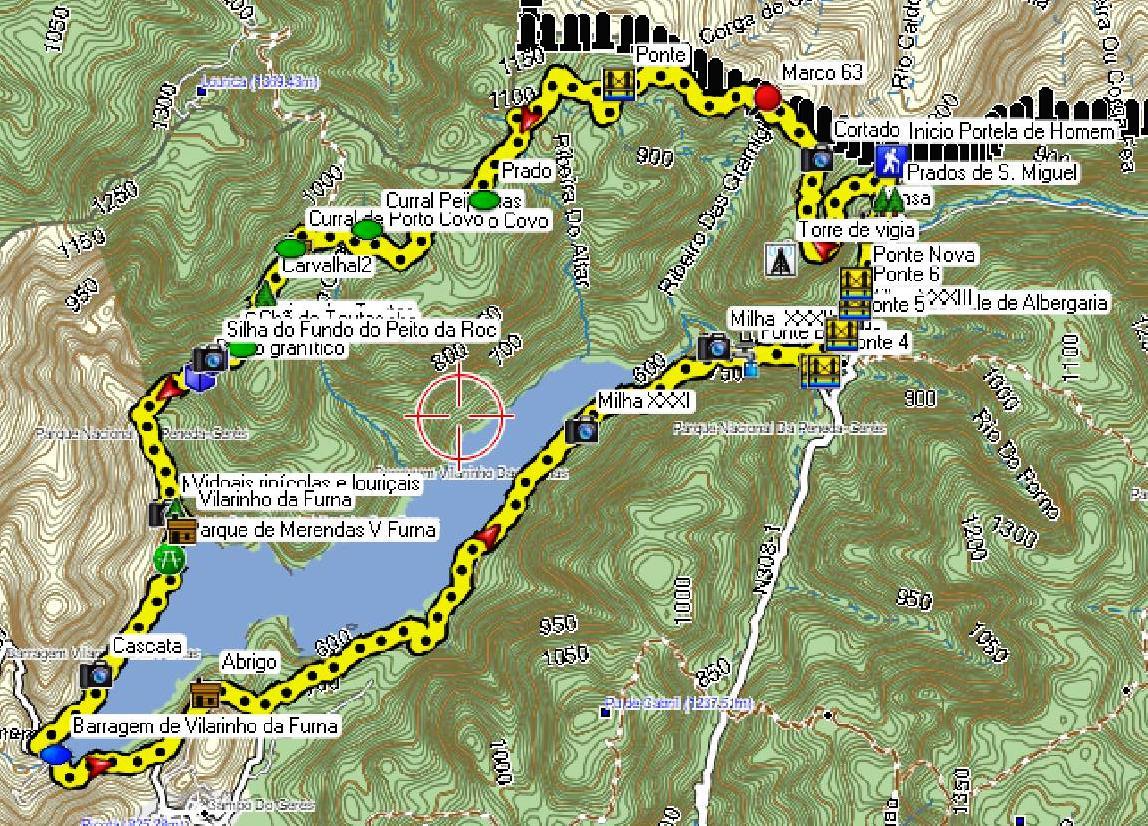 mapa geres pontos interesse O nosso rasto: Portela de Homem, Vilarinho da Furna, Portela mapa geres pontos interesse