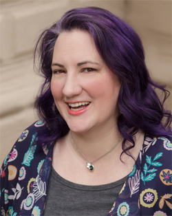 Carissa Bonham the blogger, author and TV personality with purple hair