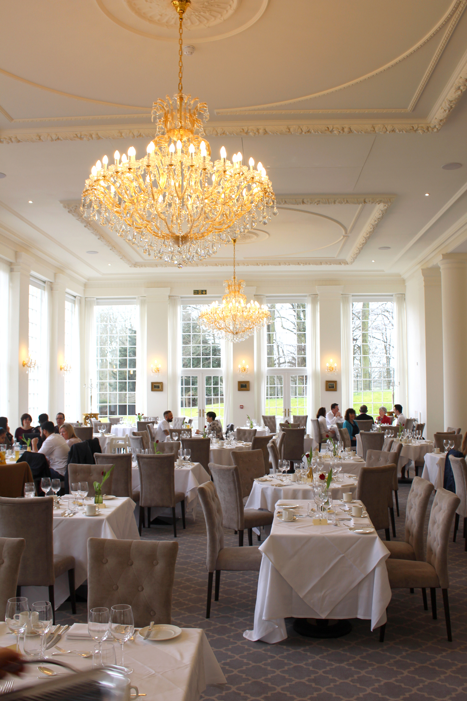 Lunch in the orangerie at Rushton Hall, Northamptonshire - UK luxury travel blog