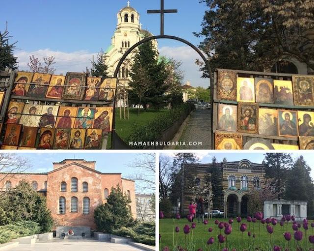 Mercado de iconos, Santo Sínodo, santa Sofía, Bulgaria