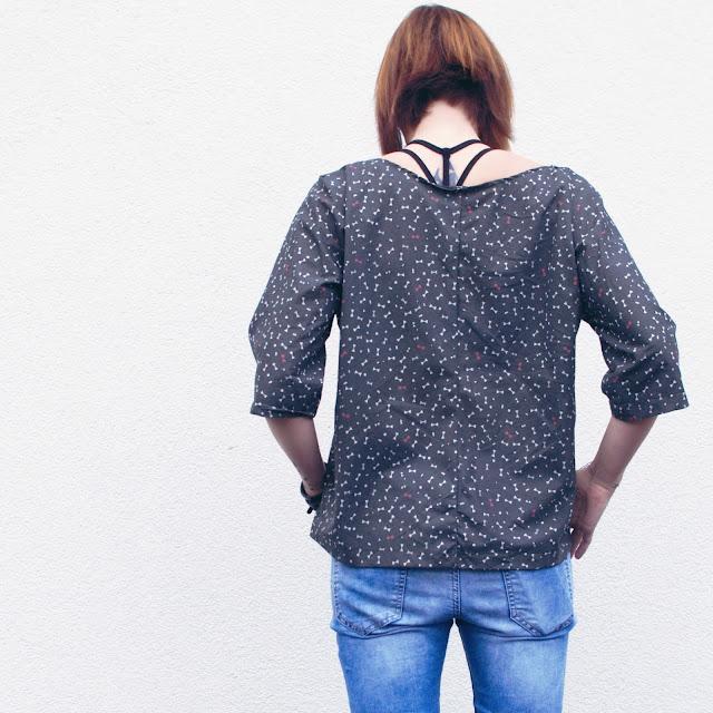 GrinseStern, Twist it, Bluse, Nähliebe, genäht, schnittmuster, atelier brunette stoff