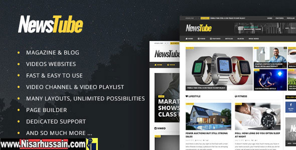 NewsTube WordPress Premium theme