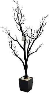 This 4-foot black Halloween tree would make a great home for your Halloween ornaments.