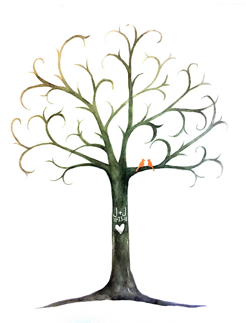 Fingerprint Tree Guest Book Template Fingerprint Tree Guest Book