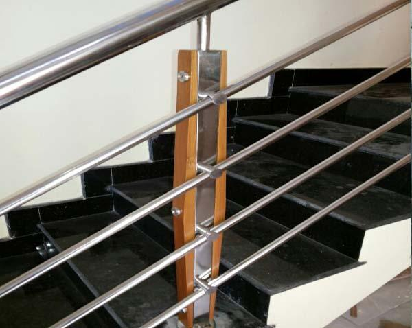 Kerala Style Carpenter Works And Designs Steel Staircase With