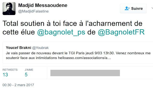 Madjid Messaoudene soutient Youcef Brakni dans le conflit judiciaire qui oppose ce dernier à une élue socialiste de Bagnolet