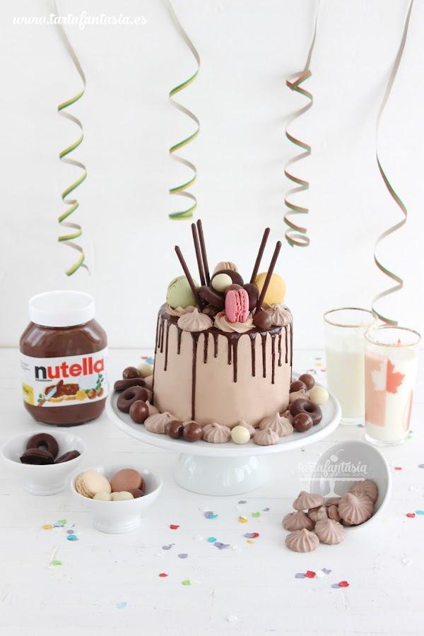 como hacer un Drip Cake de Nutella
