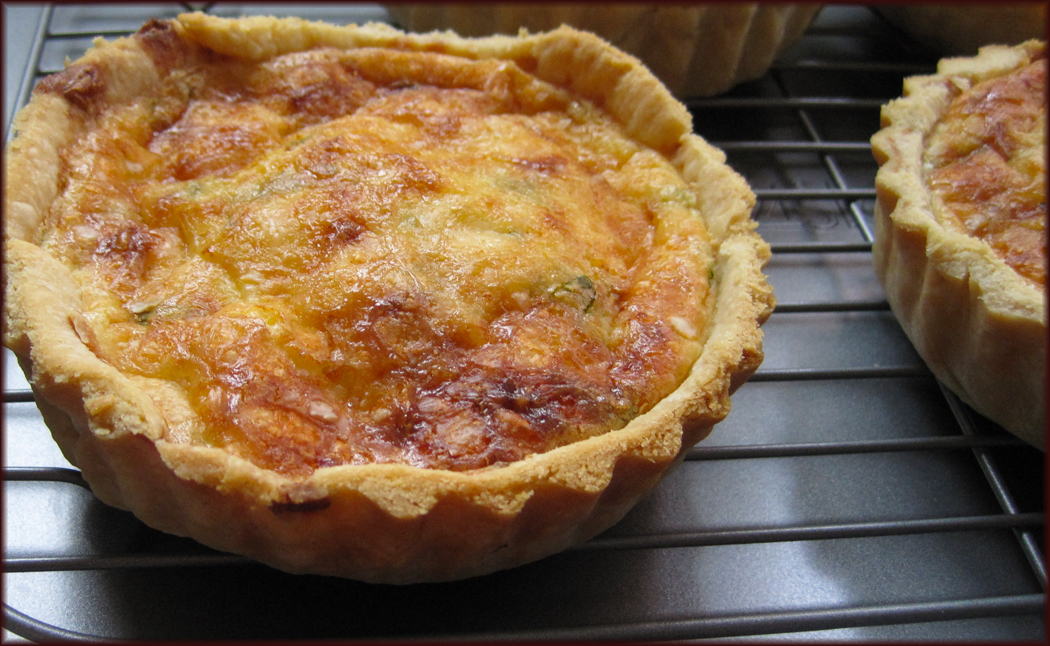 Leek Bacon Parmesan and Cheddar Quiche