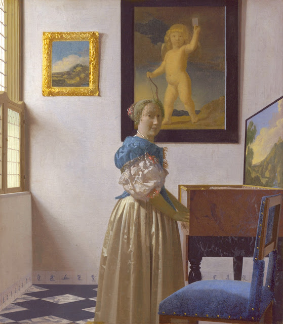 Johannes Vermeer - Mujer de pie ante un Virginal - c. 1670-72