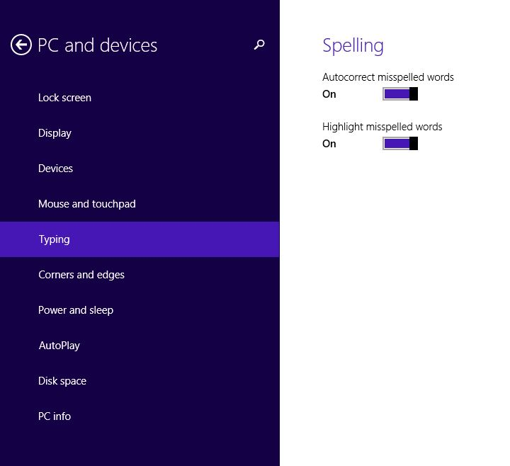 how to change spellcheck in android 5.0