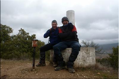 Montemayor mendiaren gailurra 734 m. -- 2017ko otsailaren 12an