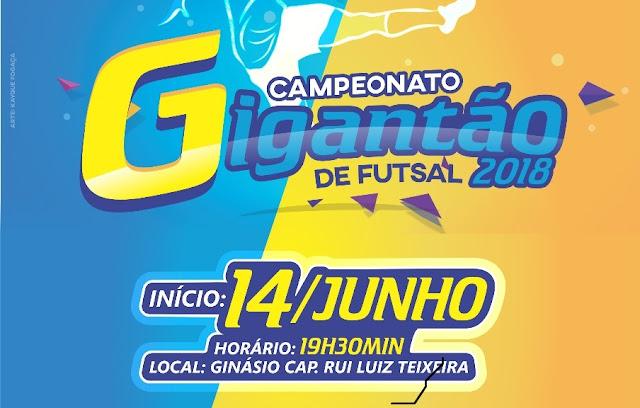 Vai começar o Campeonato Gigantão de Futsal de Cacoal
