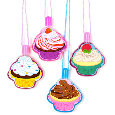 Set of 12 cupcake bubble necklaces make a fun and inexpensive holiday gift to give your troop