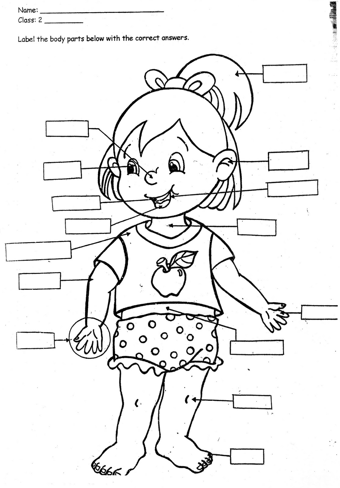 my body coloring book pages - photo#5