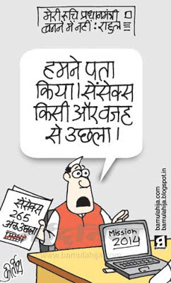 rahul gandhi cartoon, congress cartoon, election 2014 cartoons, share market, business cartoon, indian political cartoon