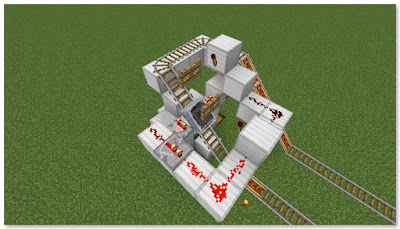 Minecraft トロッコ輸送 積み込み駅 作動状況⑥