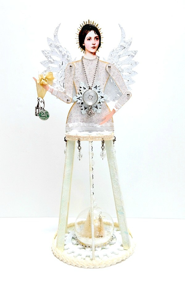 Angel of Winter Steampunk Cage Doll Shrine by Dana Tatar