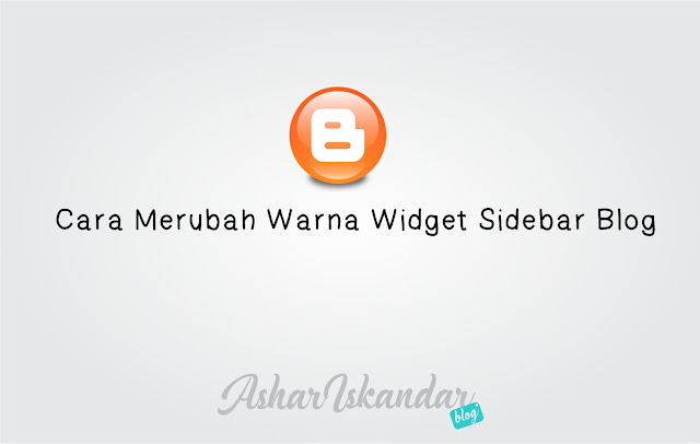 Cara Merubah Warna Widget Sidebar Blog