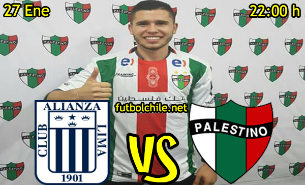 Ver stream hd youtube facebook movil android ios iphone table ipad windows mac linux resultado en vivo, online: Alianza Lima vs Palestino