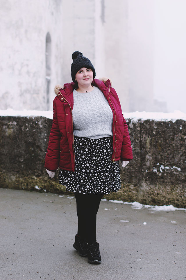 Plus size padded jacket