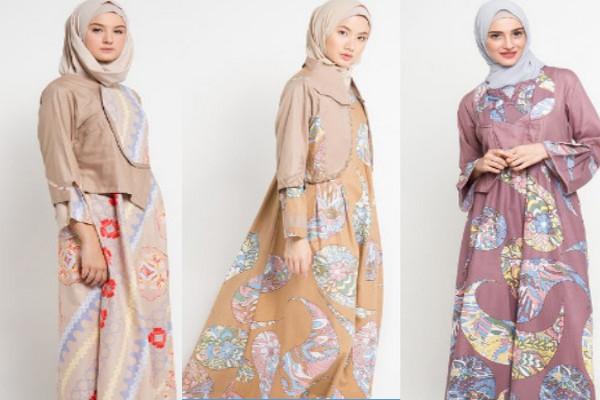 model baju batik kombinasi dengan kain polos