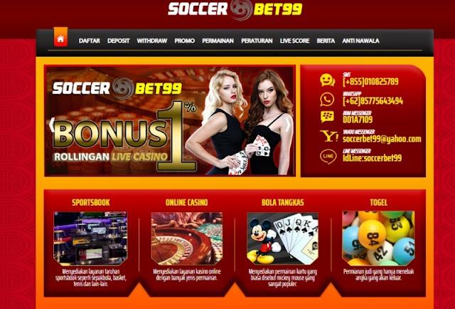 Soccerbet99 agen bola online deposit terkecil