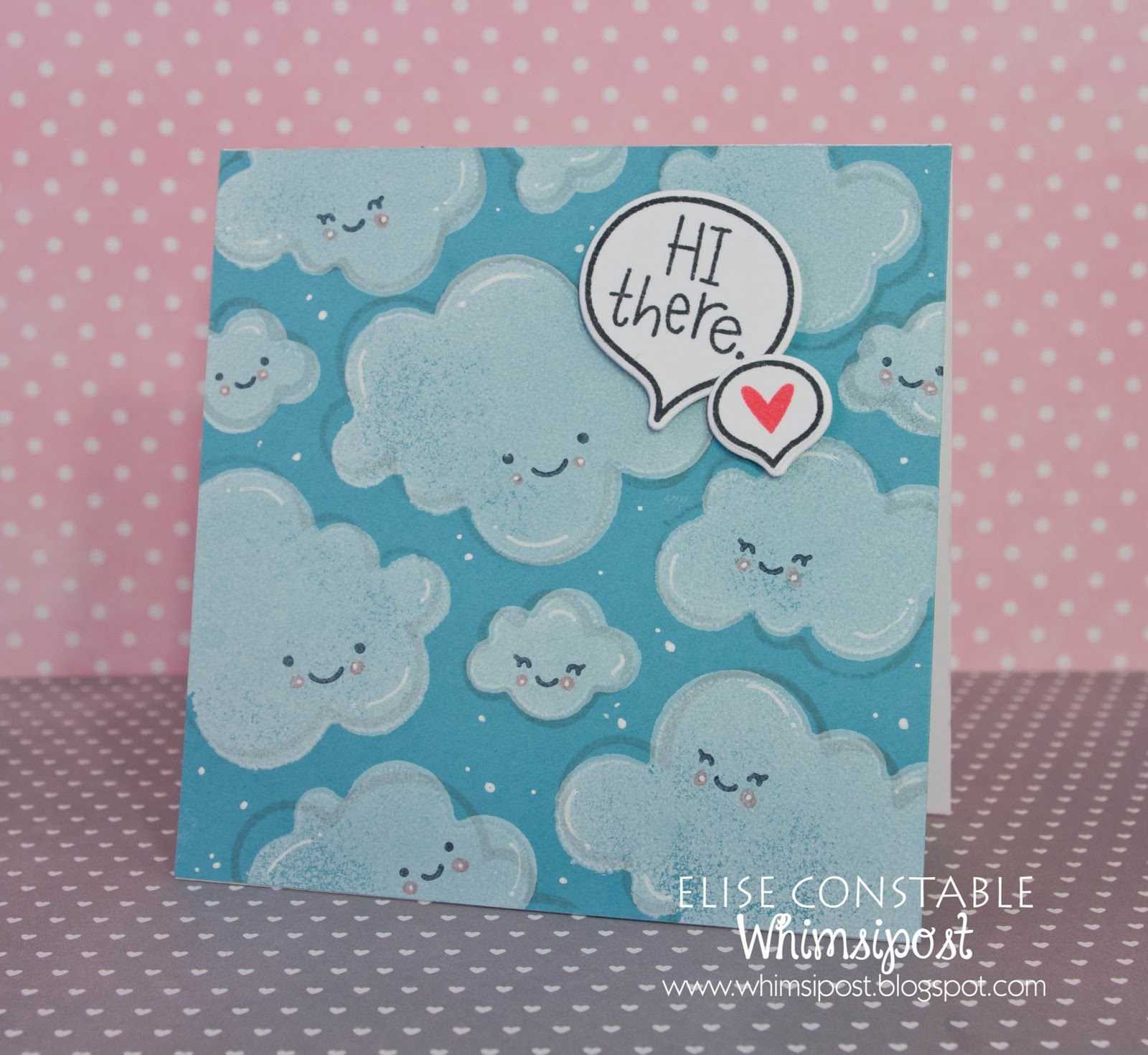Whimsipost Smiley Clouds