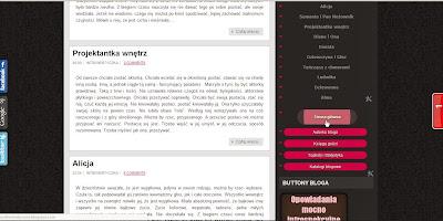 Strony na blogu
