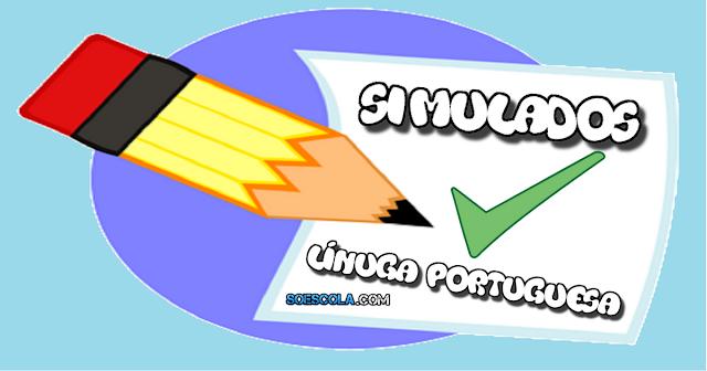 Simulados de PORTUGUÊS priorizando os descritores apresentados pelo MEC. Os conteúdos e as questões são semelhantes as que caem nas provas Saeb/Prova Brasil.