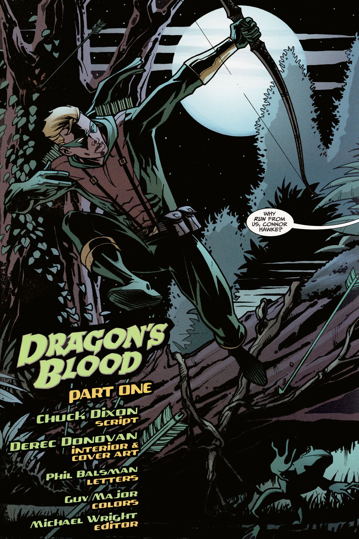 Read online Connor Hawke:  Dragon's Blood comic -  Issue #1 - 2