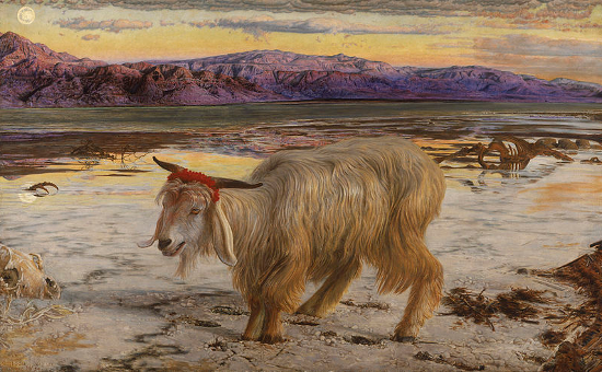 """""""The Scapegoat"""" by William Holman Hunt (1854)"""