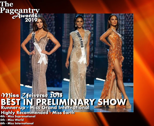 Pageantry Awards 2019 Miss Universe wins Best In Preliminary Show