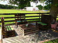 muebles para jardin hechos con palets