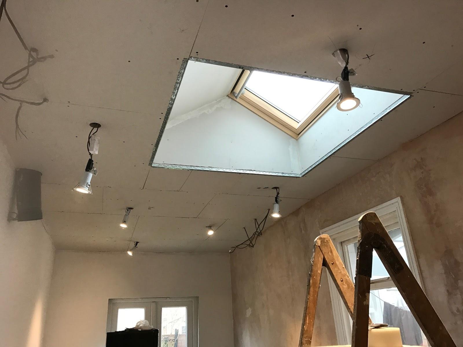 feature roof window in lantern shape
