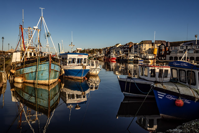 Another view of boats in Maryport Harbour at high tide