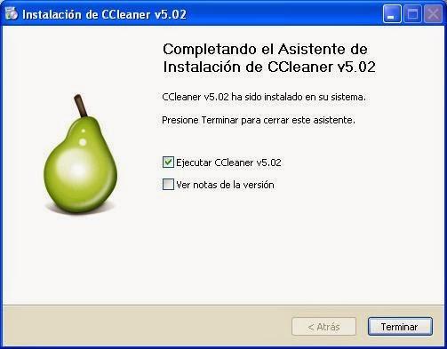 Instalación CCleaner versión 5