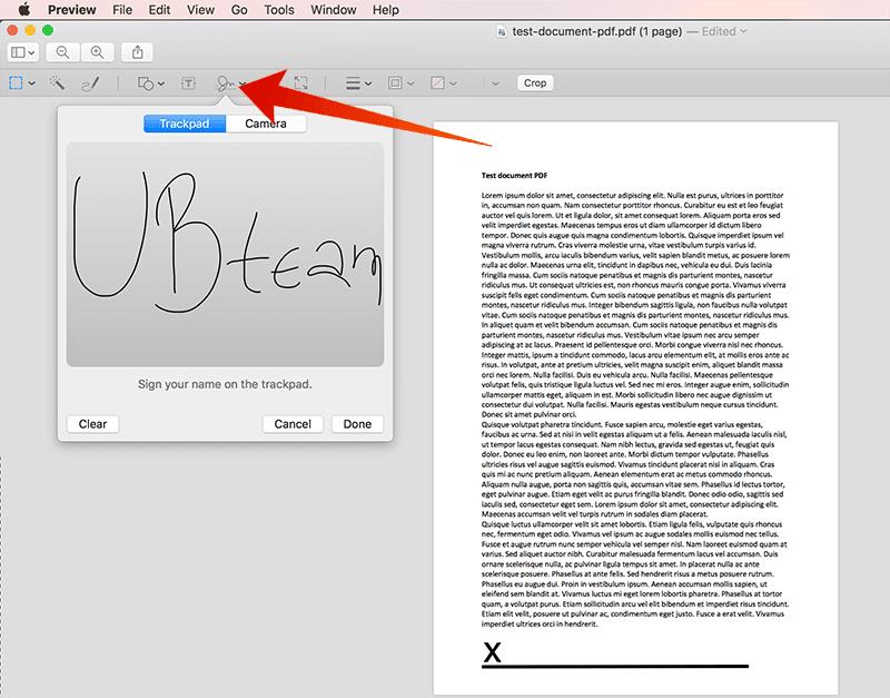 sign pdf document on mac