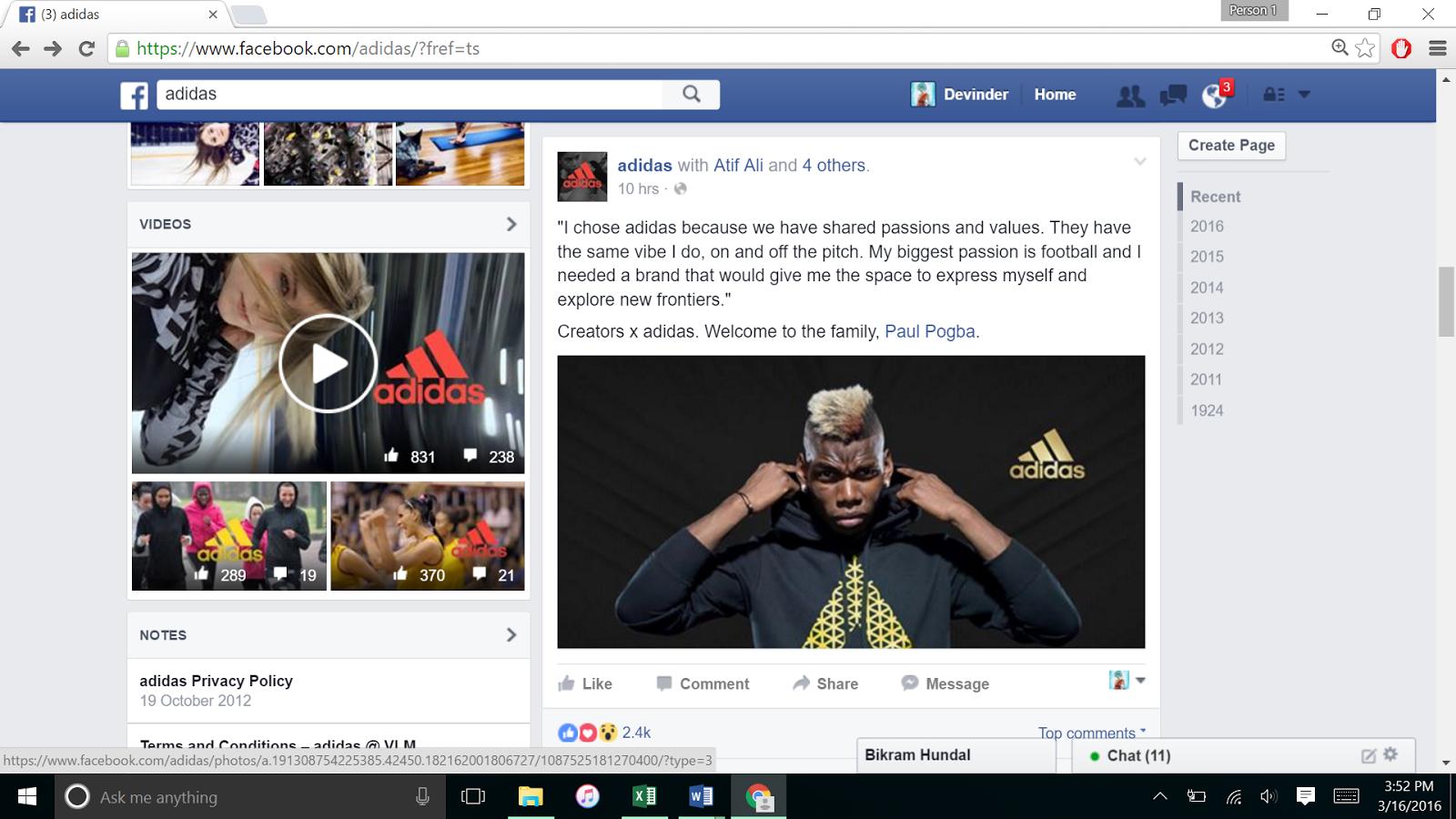 Correspondiente a Con fecha de cilindro  Ultimate Shoe Shop: Nike Vs Adidas Facebook Stratergy