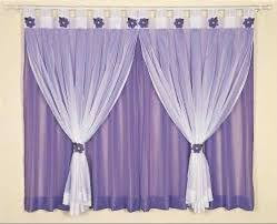 classic purple curtains with lilac drapes