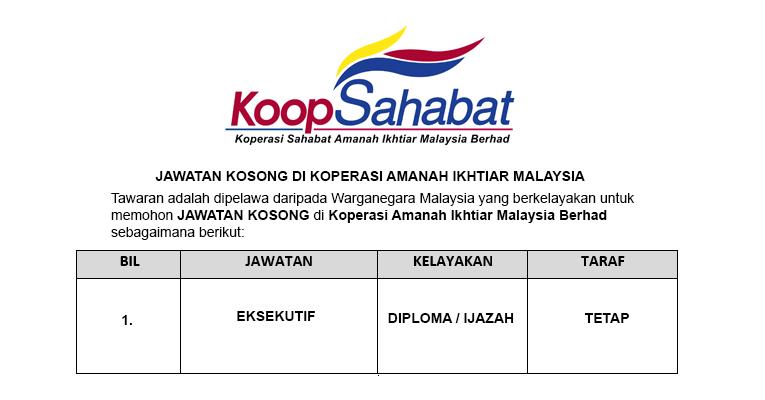 Jawatan Kosong di Koperasi Amanah Ikhtiar Malaysia Berhad