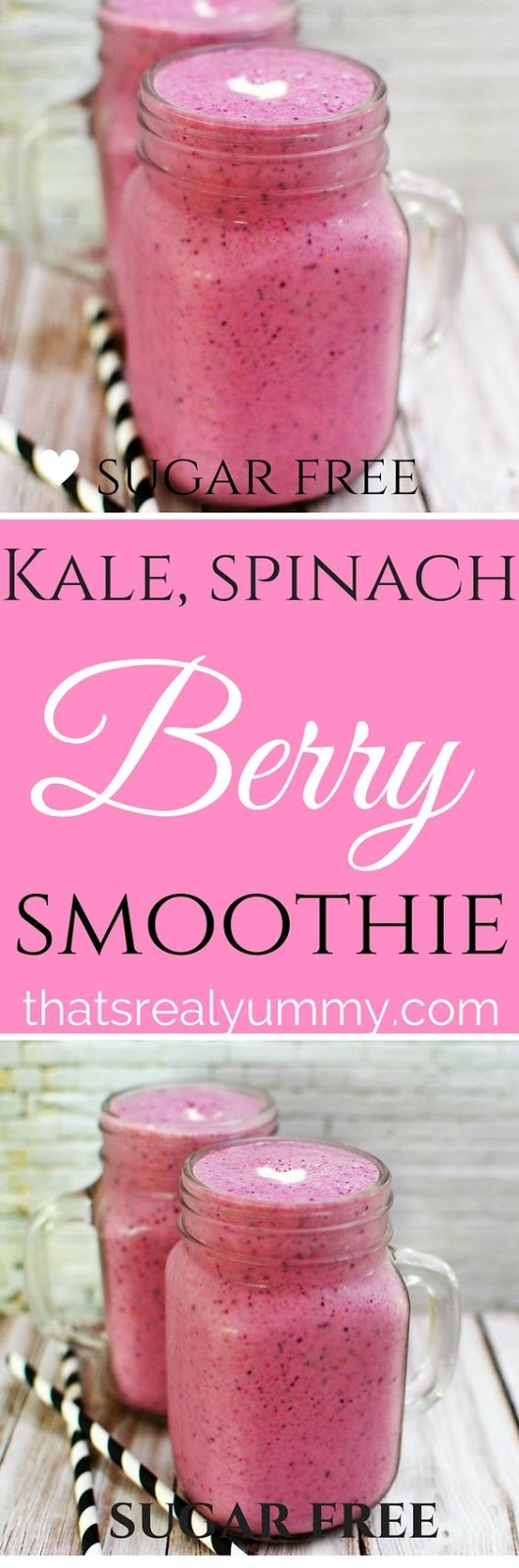 Kale Spinach & Berry Smoothie